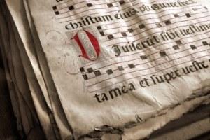 Antigua partitura - Gregoriano