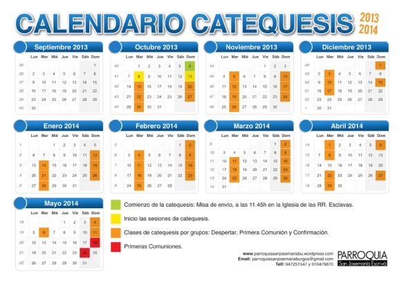 calendario catequesis 13-14