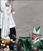 Papa Francisco y Virgen de Fátima