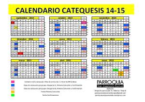 Calendario Catequesis 14-15
