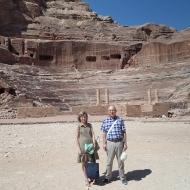 Beatriz y Agustín en Petra