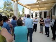 """Visitando las obras de """"Saxum"""", en el camino de Emaús"""