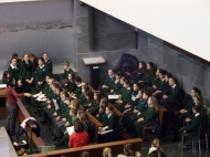 En la intervención del coro también hubo villancicos