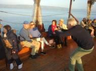 Navegando por el mar de Galilea